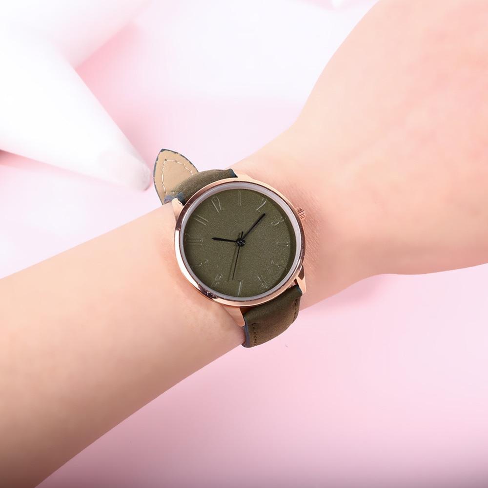 Watches Woman Quartz Women Wrist Watch PU Stap Casual Luxury Women Watches Faux Special Fashion Brand Simple pandora reloj 4EA