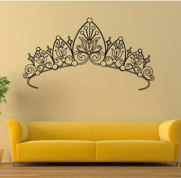 E86 Mural Decor Art Crown Queen Princess Wall Stickers home decor ...