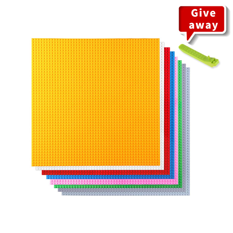 40*40CM 50*50 Dots Classic Building Blocks Base Plate For Small Size Bricks Colorful Baseplate Toys For Kids Compatible Legoes