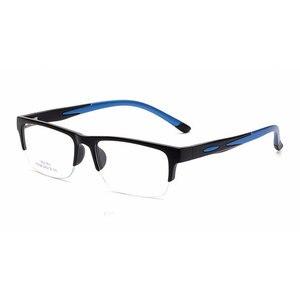 Image 5 - 男性女性眼鏡フレーム処方眼鏡TR90眼鏡フレームシリコーン光学ブランドメガネフレームハーフリムレスメガネ