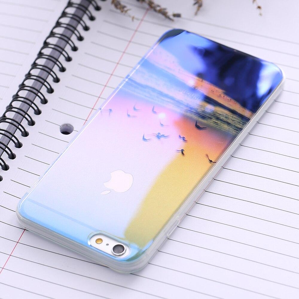 AMart 3C Store Floveme для iPhone 7 8 iPhone 7 8 плюс мобильный телефон чехол для iPhone 6 S iPhone 6 plus 6 s plus Blue-Ray Прозрачная крышка i6 6 S Чехол