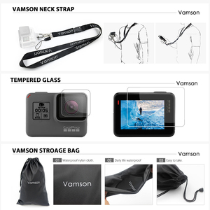 Image 5 - Vamson  for Go Pro 60m Underwater Waterproof Case for GoPro Hero 7 6 5 Black Accessory Kit Diving Protective Cover Housing VP633