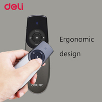 Deli Cute Pen Study Accessories Red Burning Laser High Power Laserpointer With Presenter For PPT Slide