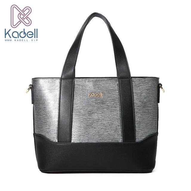 Kadell бренд PU кожаная сумка Для женщин небольшая сумка Сумки на плечо дамы классические женские Крокодил Серебряный дамы руки Сумки