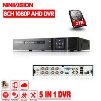 HD CCTV 8ch AHD 1080P Surveillance DVR NVR 8 Channel AHD H 1080P HDMI Standalone Security