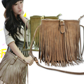 2016 Fashion bucket Style Star Tassels Bags Hobo Clutch Purses leather Handbags women Shoulder Totes Women  messenger bags