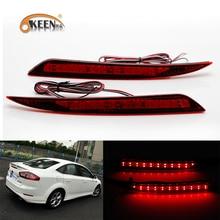 OKEEN 2x Car styling LED Rosso Paraurti Posteriore Riflettore di Luce per Ford Fusion Mondeo 2013 2014-2018 Fanale posteriore freno di Arresto Della Lampada 12 v
