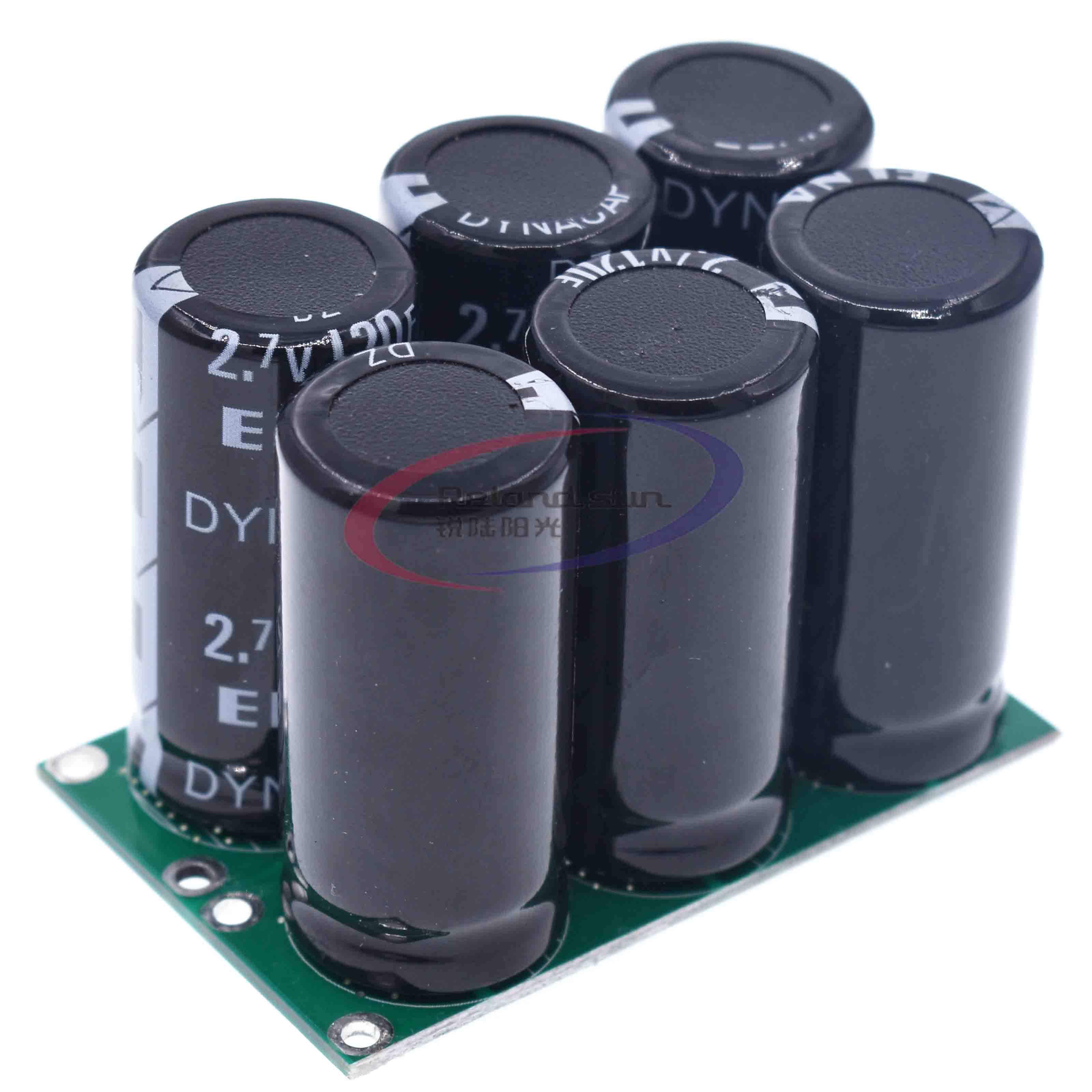 Capacitores farad 2.7 v 120f 6 pces super capacitor com placa de proteção novo