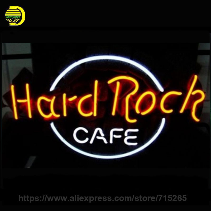 Business Custom NEON SIGN board For Hard Rock Cafe Brand REAL GLASS Tube BEER BAR PUB Club Shop Light Signs 17*12 Free Design custom signage neon signs pizza beer real glass tube bar pub signboard display decorate store shop light sign 17 14