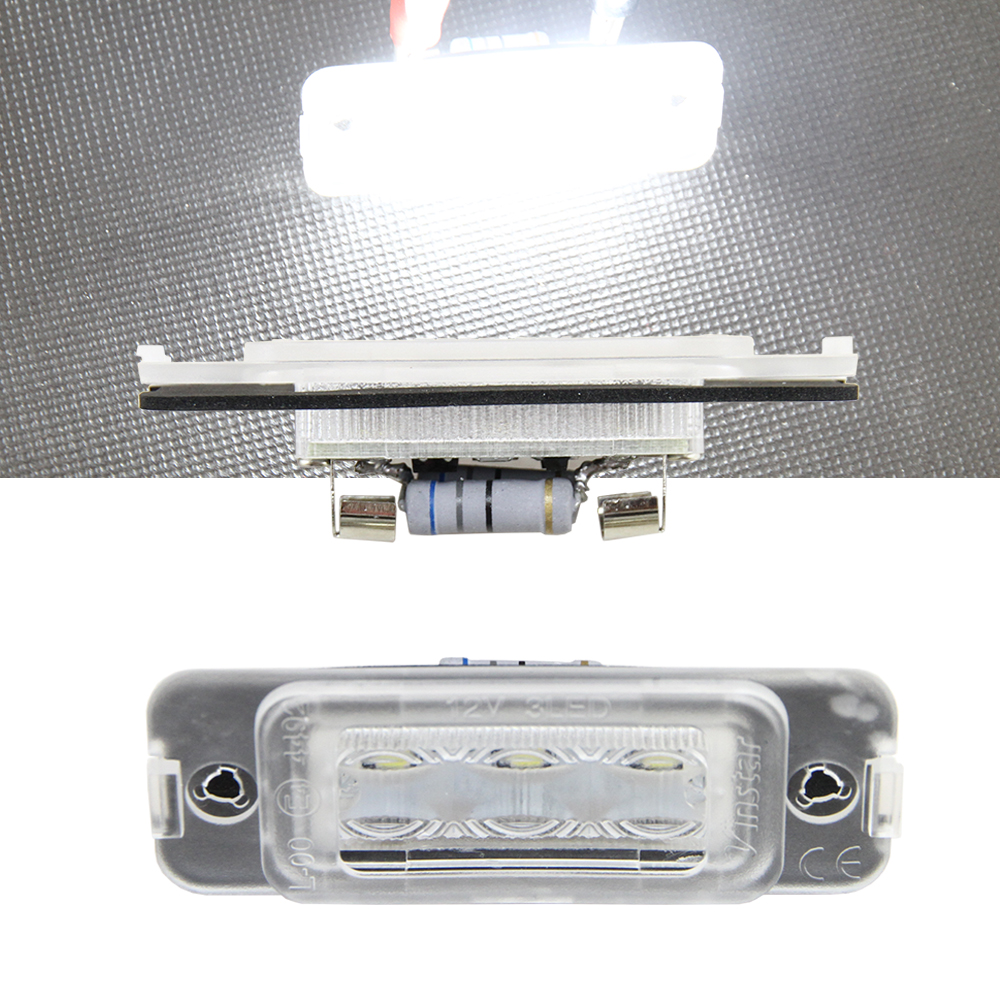 2x Auto Car Light License Plate LED Bulbs White Lamp No Error For BENZ W164 2005-2011 X164 2007-2012 W251 2006-2011 Tail license что можно во вьетнаме на 1 доллар сша