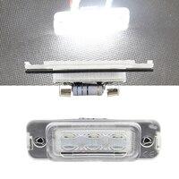 2x Auto Samochód Światło Tablicy Rejestracyjnej LED Biały Żarówki Lampy Nie błąd Dla BENZ W164 W251 2005-2011X164 2007-2012 2006-2011 Ogon licencji
