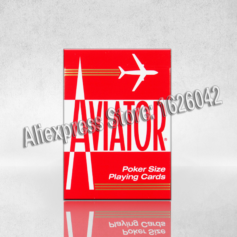 XF Gambling Cheat the US AVIATOR Paper Marked Invisible Playing Cards for UV Contact Lenses,Magic Trick for Poker Cheat
