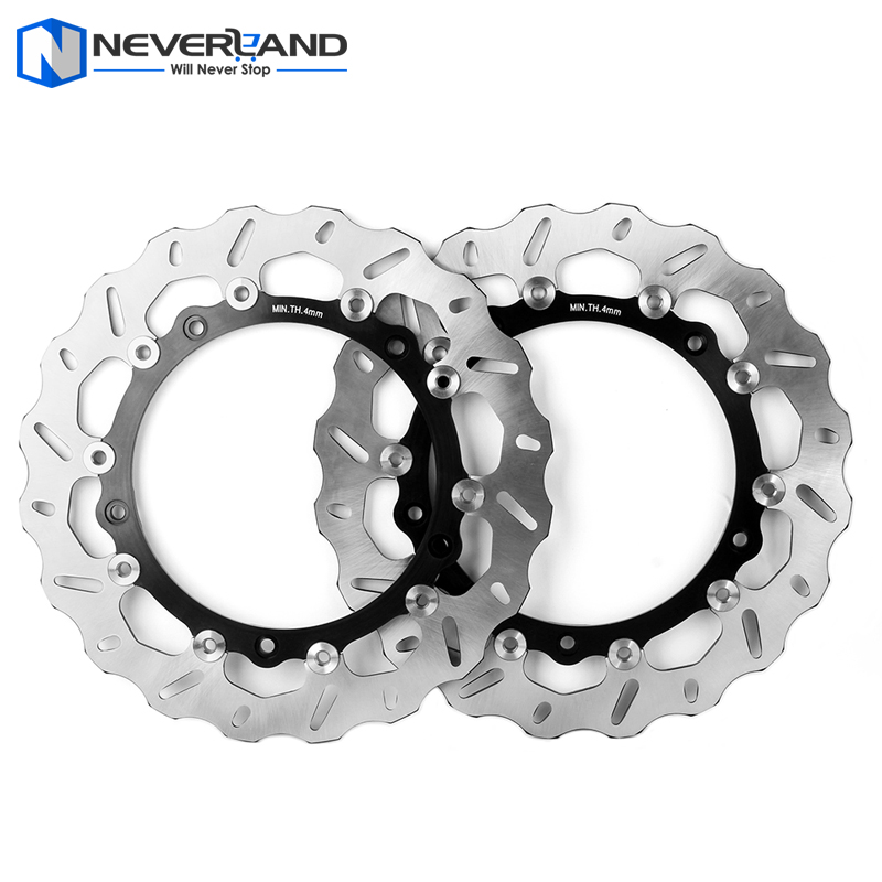 2pcs Front Brake Disc Rotor For BMW S1000RR S 1000 RR S 1000RR 2008 2009 2010 2011 2012 2013 2014 2015 Motorcycle пороги rival bmw style hyundai ix35 2010 2013 2015 kia sportage 2010 2014 2015 круг 173 см крепеж 2 шт