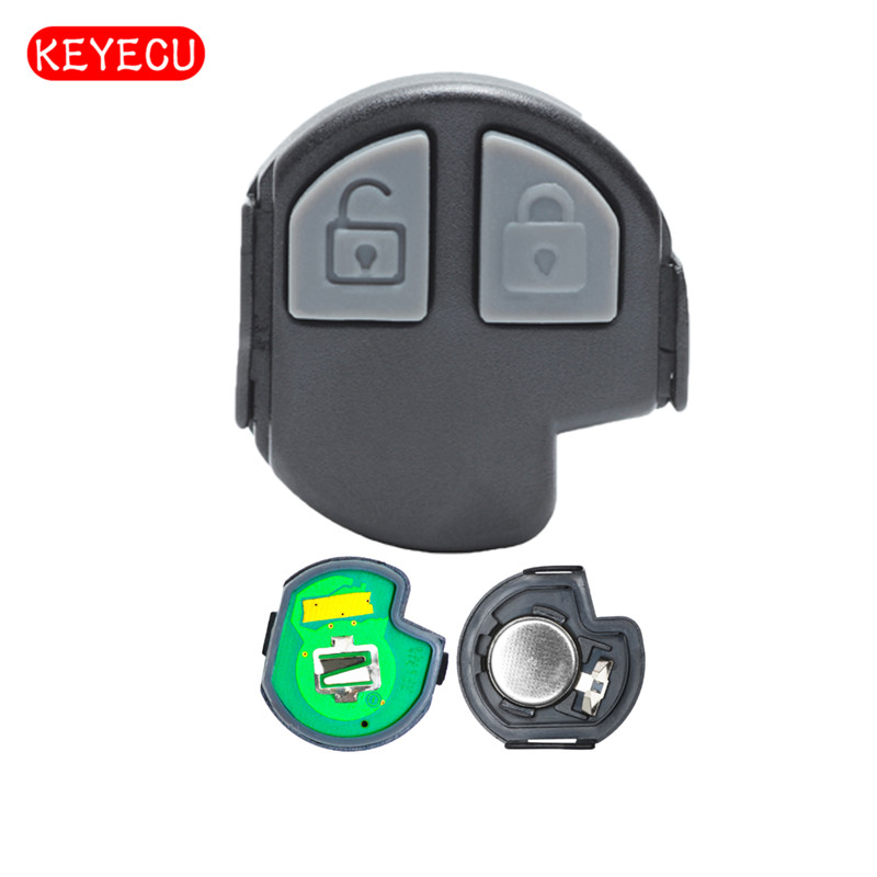 Keyecu 3pcs/lot Keyless Entry Remote Key Board 2 Button for Suzuki SX4 433MHZ(4T) ...