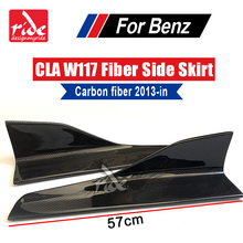 W117 Universal Side Bumper Extension Skirt For Mercedes Benz C Class A180 A200 A250 A300 Splitters Flaps 2013-in