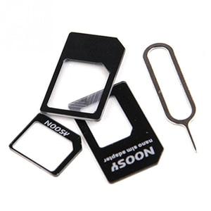 Image 5 - 50pcs/lot 4 in 1 Nano SIM Card Adapters Micro SIM Adapters Standard SIM Card Adapter Eject Pin For iphone 4 4S 5 6 6S All Phones