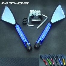 Retrovisor universal para motocicleta, espelho cnc, visão lateral para yamaha mt09 MT-09 fj09 fz09