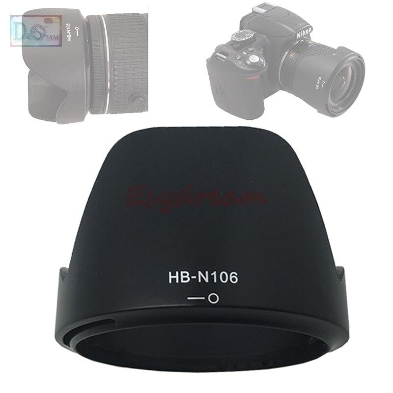 Lens Hood Shade Replace HB-N106 For Nikon AF-P DX NIKKOR 18-55mm F/3.5-5.6G VR / 18-55 Mm F3.5-5.6 G VR HBN106 N106