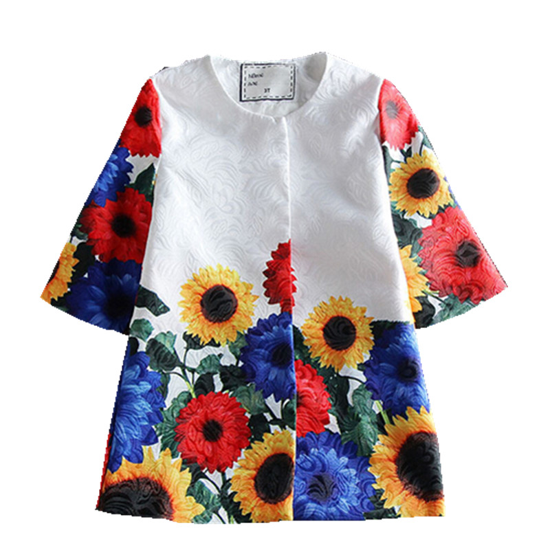 2016 kimocat fashion designer Children s wear print dress two piece dress china imported clothes