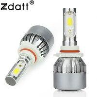 2Pcs H11 LED Lamp Bulb 72W 7600LM Fog Light Universal Car LED Light 12V 6000K White