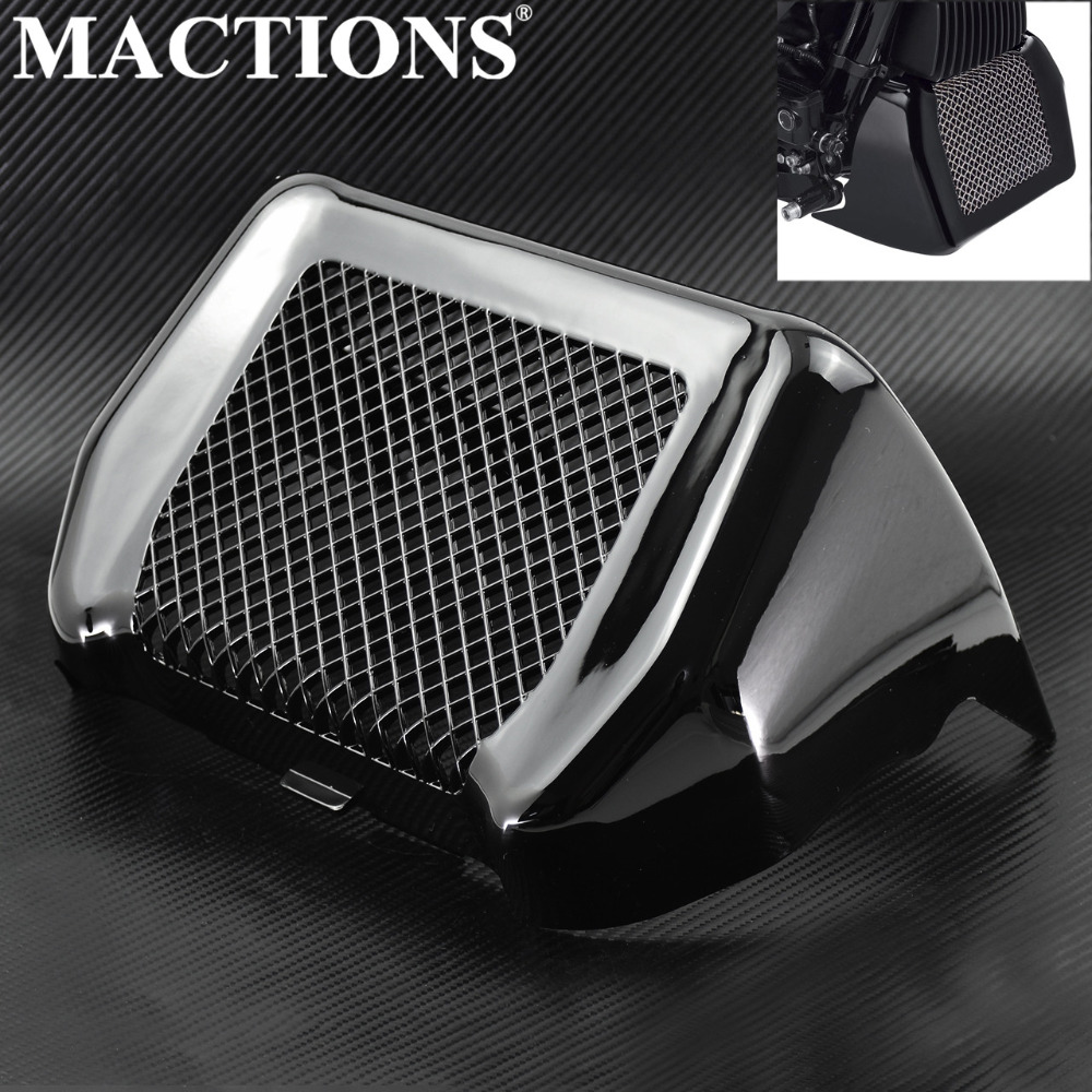 Glossy Black Oil Cooler Cover Kit With Bracket For Harley Touring Road King Street Glide Freewheeler