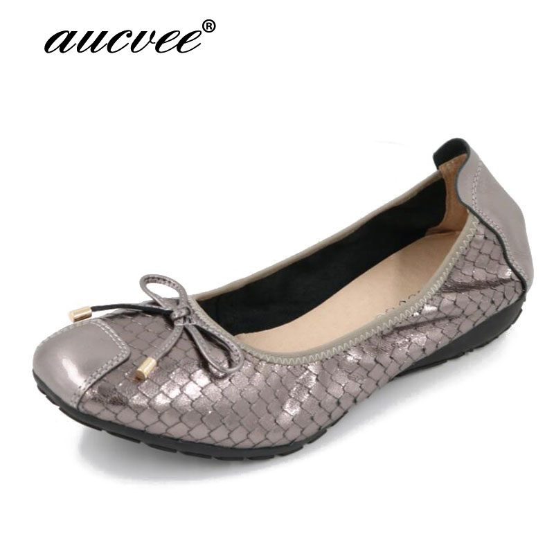 Flat Shoes Women fashion Bow Genuine leather Slip On Shoes For Women Loafers Moccasin Zapatos Mujer Ballet Flats Womens summer women ballet flats genuine leather shoes ladies soft non slip casual shoes flower slip on loafers moccasins zapatos mujer