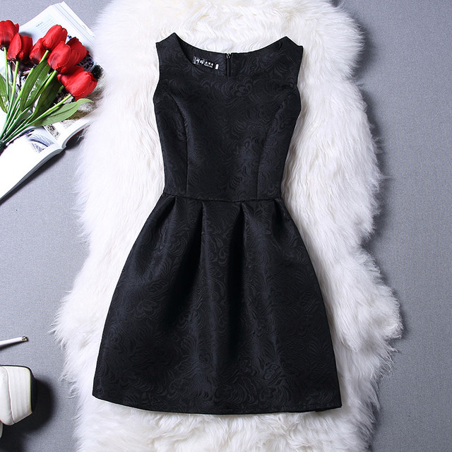 Vestidos De Festa Summer Dress Women robe femme ete 2017 Fashion sexy O-neck Party Evening Vintage Tank ukraine Red Black Dress