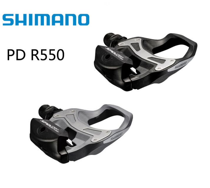 Shimano PD R550 Self-Locking SPD Pedals Cycling Road Bike pedales PD-R550 Components Using for Bicycle Racing Cleats Parts shimano deore xt pd m8000 self locking spd pedals mtb components using for bicycle racing mountain bike parts