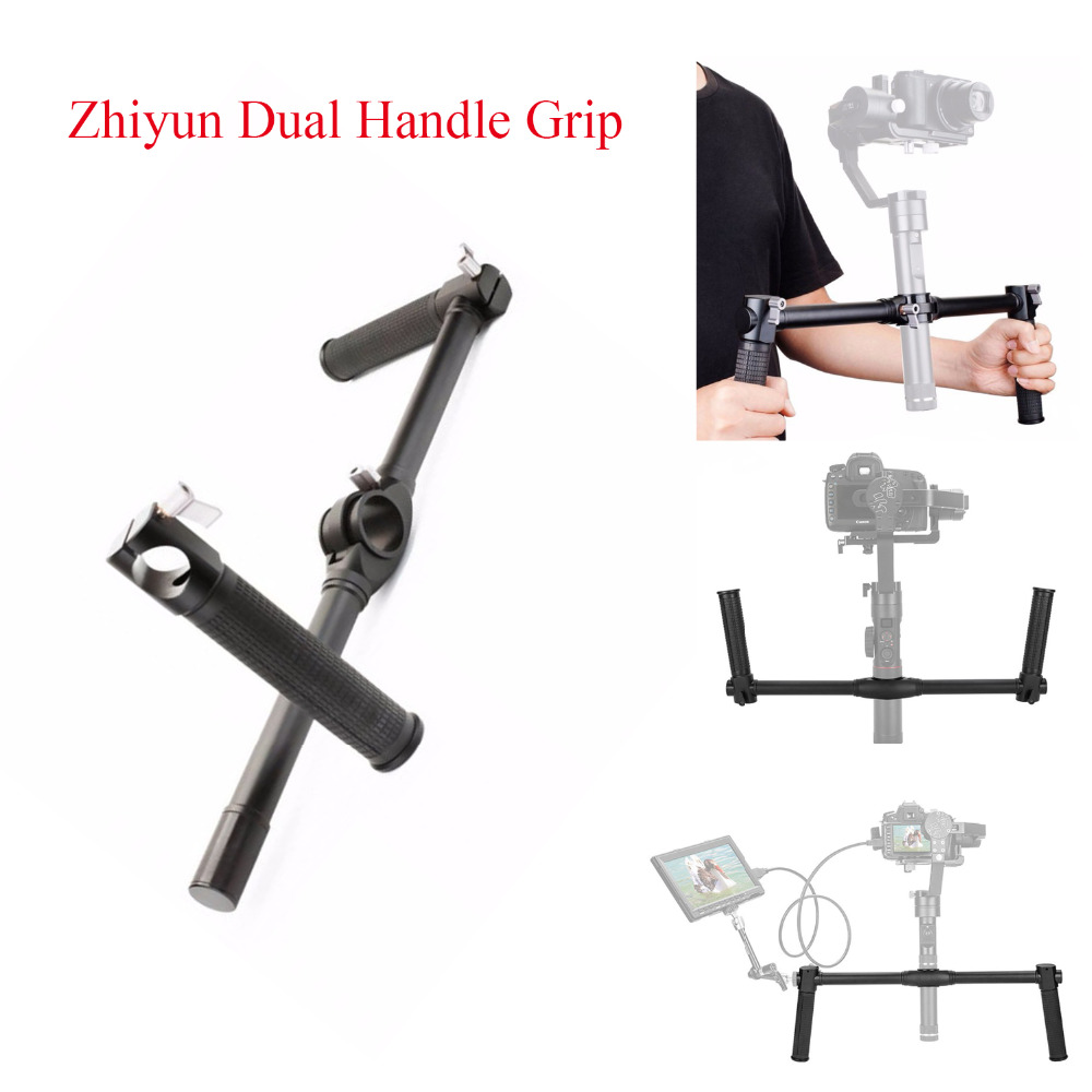 Zhiyun Dual Handle Grip Handheld Handlebar for Zhiyun Crane 2 Gimbal Stablizer using for Canon Sony A7/ NEX Series DSLR Cameras smallrig universal camera grip wooden side handle for ronin s for zhiyun crane series handheld gimbal 2222