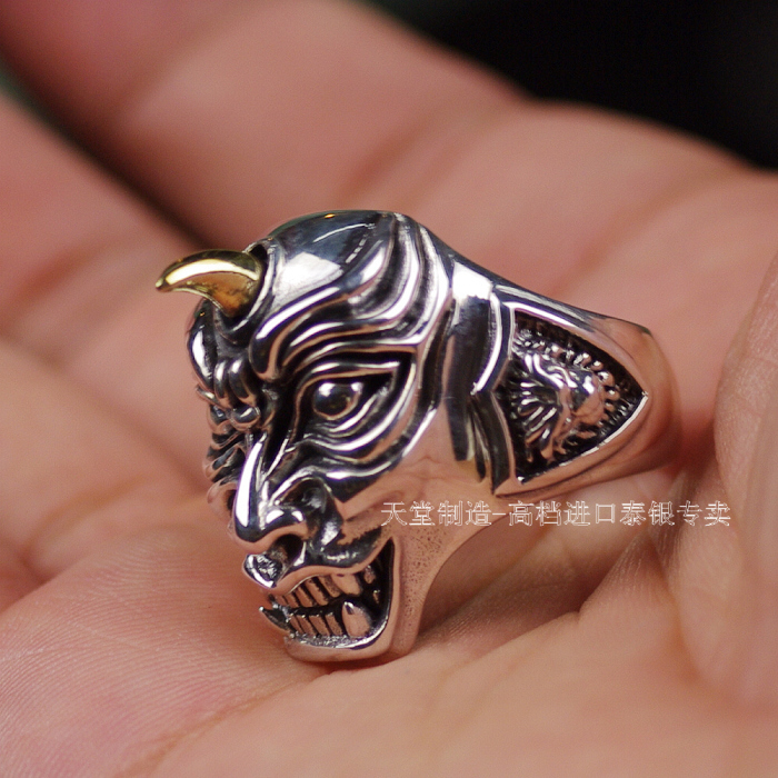 где купить 925 pure silver skull male thai silver ring дешево