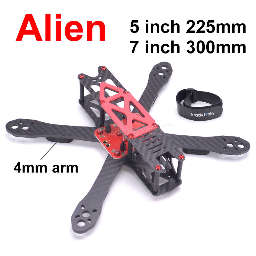 Alien RR5 5 inch 225 225mm / 7 inch 300 300mm Carbon Fiber Quadcopter Frame kit For FPV Racing Drone Upgrade Martian II