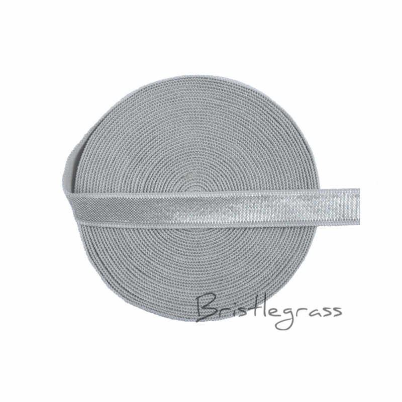 "Bristlegrass 5ヤード3/8 ""10ミリメートルヌードスパンデックスサ光沢のある非折り重なりゴムひもカチューシャドレスブラジャーストラップレーストリムdiy縫製"