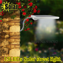 NEW Super bright LED Solar Lamp Sensor Waterproof Solar Light 15LEDs Street Light Outdoor Path Wall Lamp Security Spot Lighting