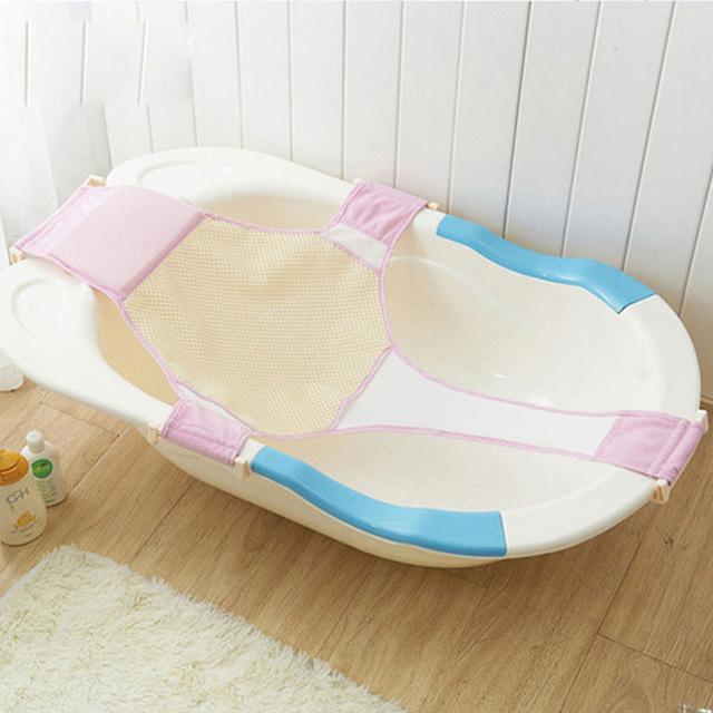 1 pc de Alta Qualidade Assento De Banho Ajustável Banheira Banho Banho Do Bebê Assento Do Bebê Assento de Segurança de Rede de Segurança Suporte de Banho Infantil