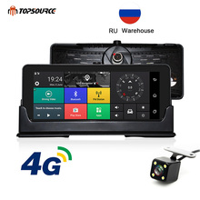 TOPSOURCE Car DVR GPS 4G 6.86 Android 5.1 Camera WIFI Full HD 1080P Video Recorder Registrar dashcam Parking Monitoring
