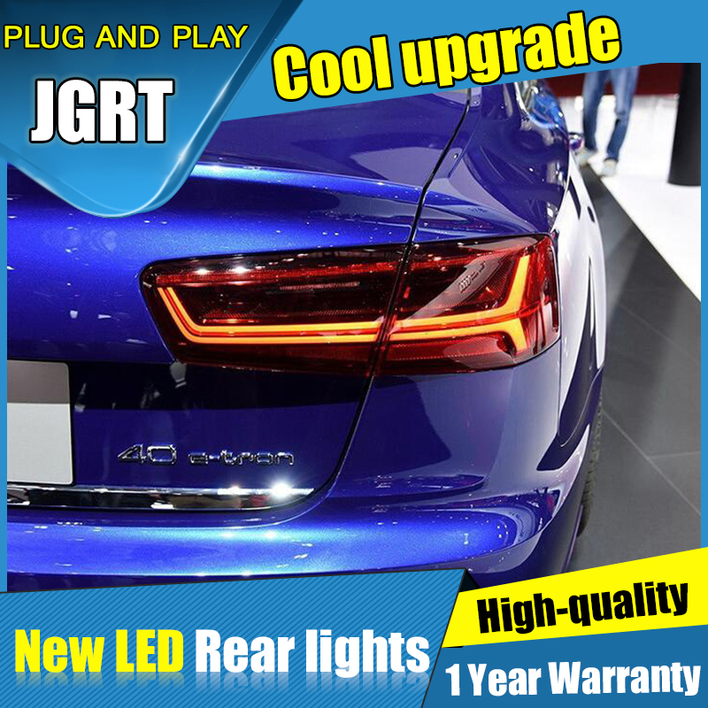 Dynamic turn signal taillights For <font><b>Audi</b></font> <font><b>A6</b></font> <font><b>led</b></font> <font><b>Tail</b></font> <font><b>light</b></font> Assembly DRL+Turn Signal+Brake+Reverse+fog <font><b>lights</b></font> 2012 2013 2014-2016 image