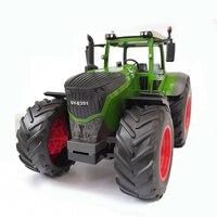 Rc trator agrícola controle remoto reboque dump/ancinho 1:16 simulação caminhão construção veículo brinquedos|Caminhões RC| |  -