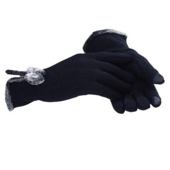 Damskie Screentouch grube modne opaska dziecięca damskie zimowe rękawiczki damskie damskie dziewczęce rękawiczki z ekranem dotykowym rękawiczki Mitten Guantes tanie i dobre opinie Kobiety Dla dorosłych Moda Floral COTTON Nadgarstek KUYOMENS