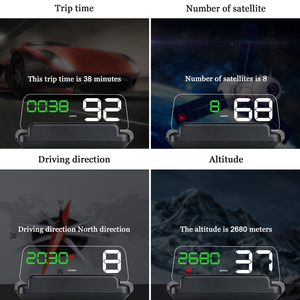 Image 2 - T900 HUD HeadUp Display Car GPS Speedometer Windshield Projector With Reflection Board Mirror OBD2 Gauge Diagnostic Tool