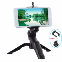 Mini Flexible Tripod for Gopro Hero Universal Desktop & Handle Tripod for Mobile Phone with Cell Phone Holder and Tripod Adapter