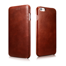 Original ICARER Premium Genuine Leather High Grade Vintage Flip Cover Cases For iPhone 6 6s 4.7inch