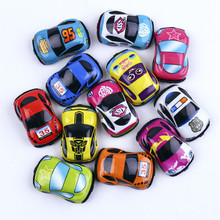 Pull Back Car Toys Car Children Racing Car Baby Mini Cars Cartoon Pull Back Bus Truck Kids Toys For Children Gifts Random Color(China)