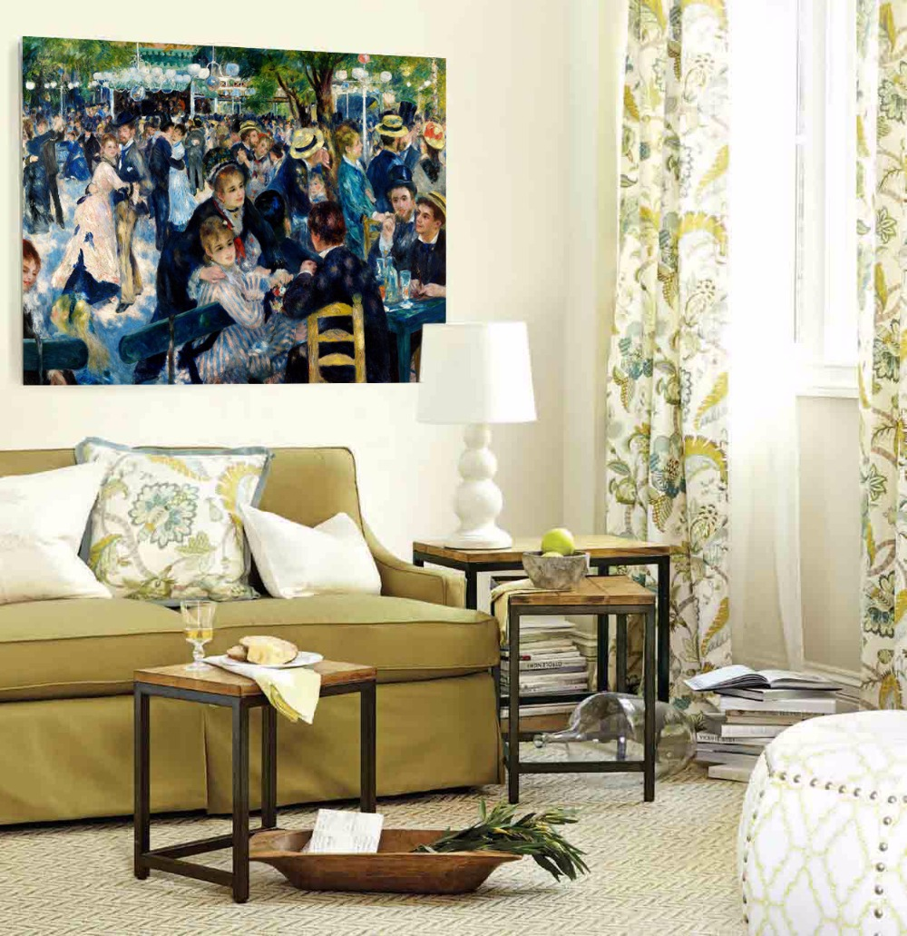 World Famous Art Dance At Le Moulin De La Galette Canvas Painting Home Decor Wall Pictures For Living Room Unfarmed In Calligraphy From