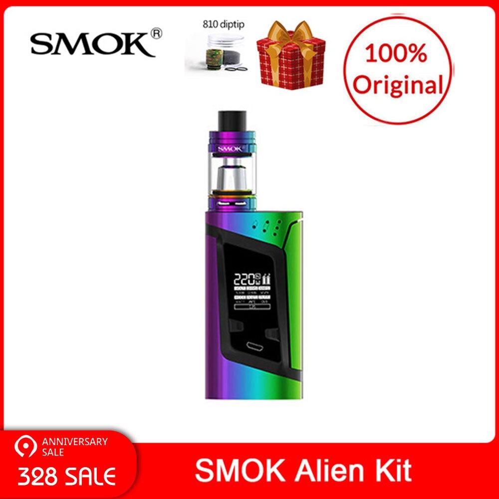 Kit Original SMOK Alien 220W avec réservoir TFV8 bébé bête 3ml + Q2/T8 bobines pour cigarette électronique smok alien kit