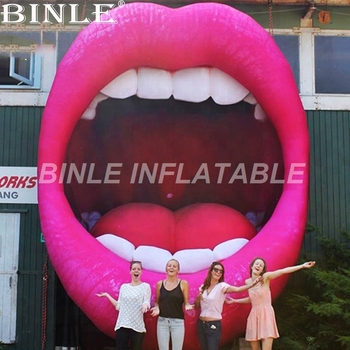 Bühne hintergrund requisiten roten riesen aufblasbare lip aufblasbare öffnung mund für einzigen partei decororation