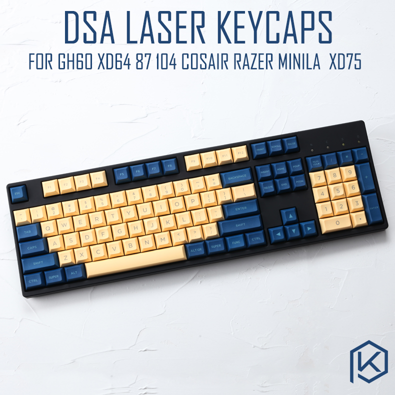 Dsa Pbt Top Printed Legends PBT Keycaps Laser Etched For Gh60 Poker2 Xd64 87 104 Xd75 Xd96 Xd84 Cosair K65 K70 Razer Blackwidow