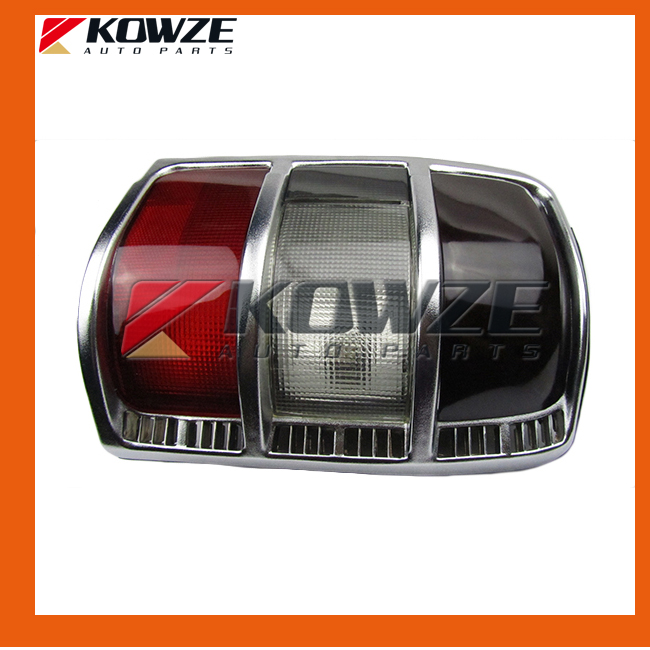 Silver Tail Rear Combination Lamp Light Narrow Frame For Mitsubishi Pajero Montero Shogun 2 II 1990-2004 MB831088 MB831089 rear fog lamp spare tire cover tail bumper light fit for mitsubishi pajero shogun v87 v93 v97 2007 2008 2009 2010 2011 2012 2015