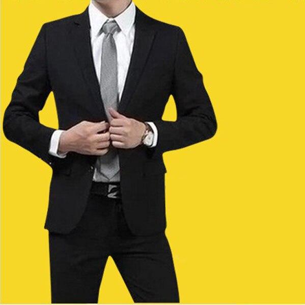 Бесплатная доставка новый 2015 мужчин пиджаках деловой костюм мужчины профессиональный дружки рабочая свадьбу мужские костюмы с брюками