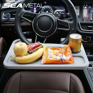 Car Accessories Desk Coffee Holder Auto Laptop Computer Table Mounted on the steering wheel Portable Eat Work Drink Seat Tray