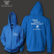 How I met your mother Barney Bro code bros before hoes funny design zip up hoody men cotton fleece high quality sweatershirt